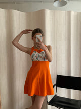 robe courte orange T. S