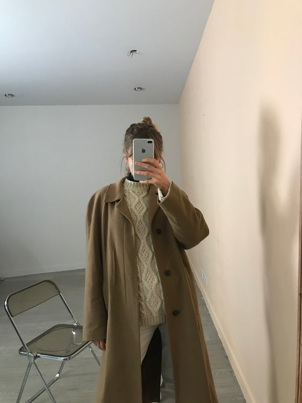 manteau camel Burberry