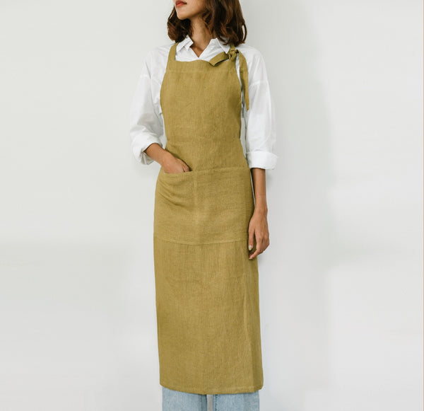 Yellow Ochre Full Apron - Kain & Wares