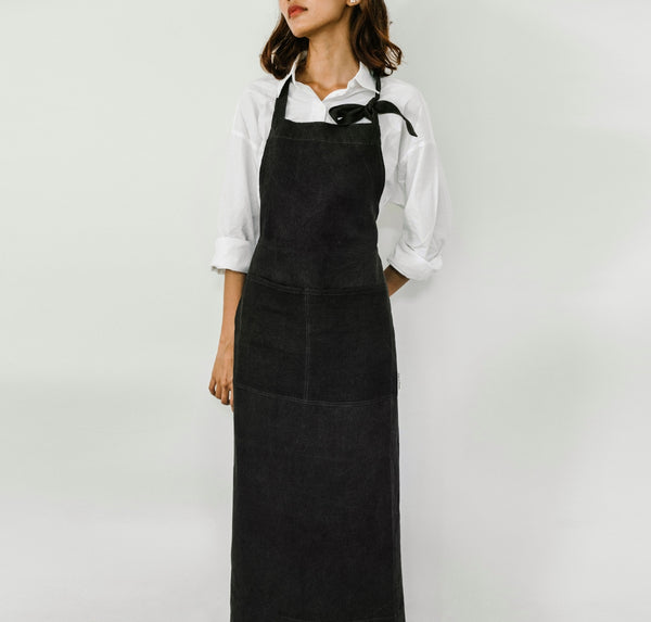 Mid Black Full Apron - Kain & Wares