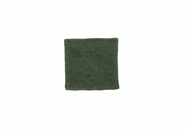 Forest Green Linen Coaster - Kain & Wares