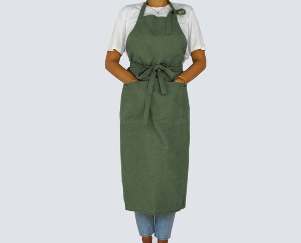 Forest Green Full Apron - Kain & Wares