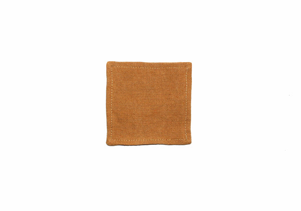 Natural Tan Linen Coaster - Kain & Wares