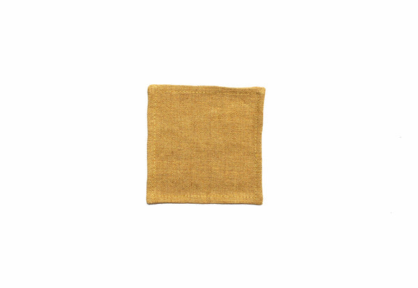 Yellow Ochre Linen Coaster - Kain & Wares
