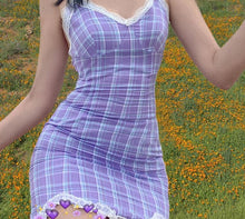 Load image into Gallery viewer, Purple Vintage Dress