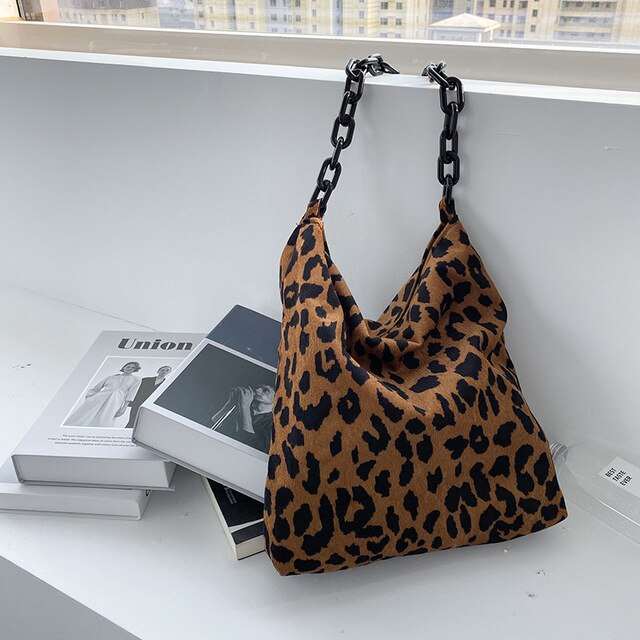 Leopard Chain Shoulder Bags