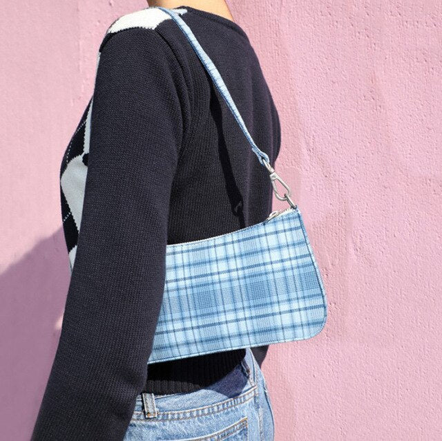Chequered Shoulder Bags