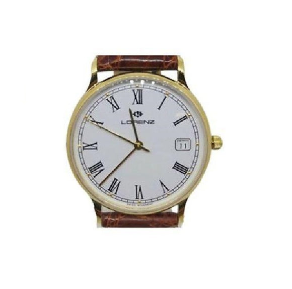 Orologio uomo oro 18 kt Classic Solid 18CT Gold Swiss made Lorenz 017634
