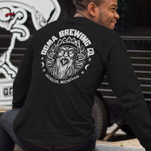 Load image into Gallery viewer, Bear the Crown, Black Long-Sleeved Tee