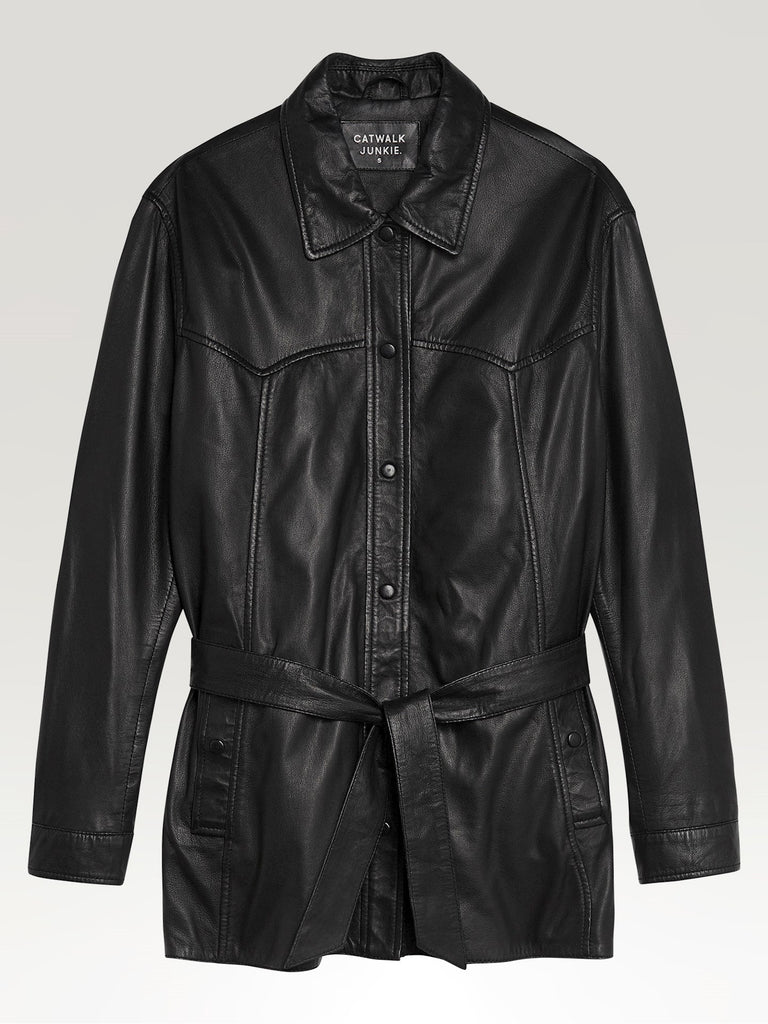 Catwalk Junkie Leather Jacket Veronika Black