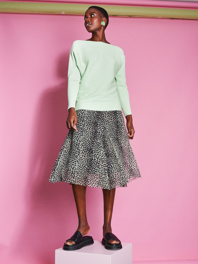 Catwalk Junkie Skirt Jungle Leopard Patina Green