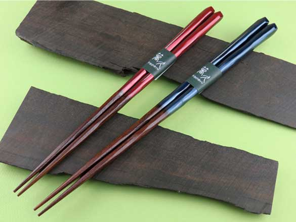 "Chopsticks Natural Wood,Shave,Painting ""Countryside"" -天然木削り塗分け「田園」-"