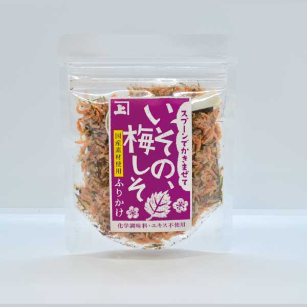 Sprinkle with bonito, plum and shiso -いその、梅しそふりかけ-