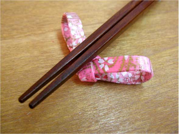 "Chopsticks Use Japanese Paper ""Wish"" -和紙貼り「ねがい」先角箸-3"