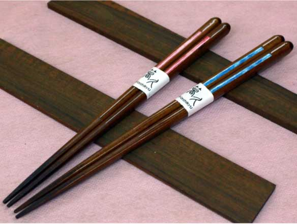 "Chopsticks Use Japanese Paper ""Wish"" -和紙貼り「ねがい」先角箸-"