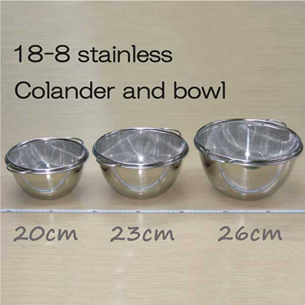 Deep Bowl & Colander with Handle -深型ボール&取っ手付きザルセット-5