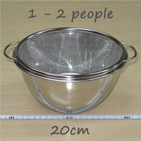 Deep Bowl & Colander with Handle -深型ボール&取っ手付きザルセット-6