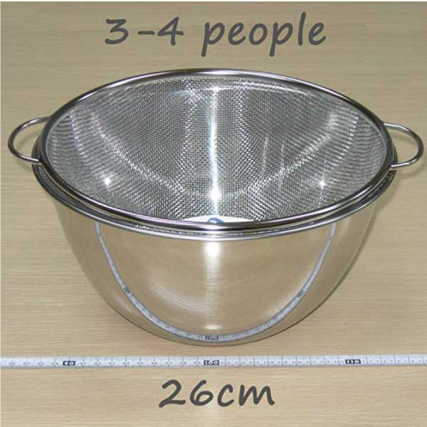 Deep Bowl & Colander with Handle -深型ボール&取っ手付きザルセット-8