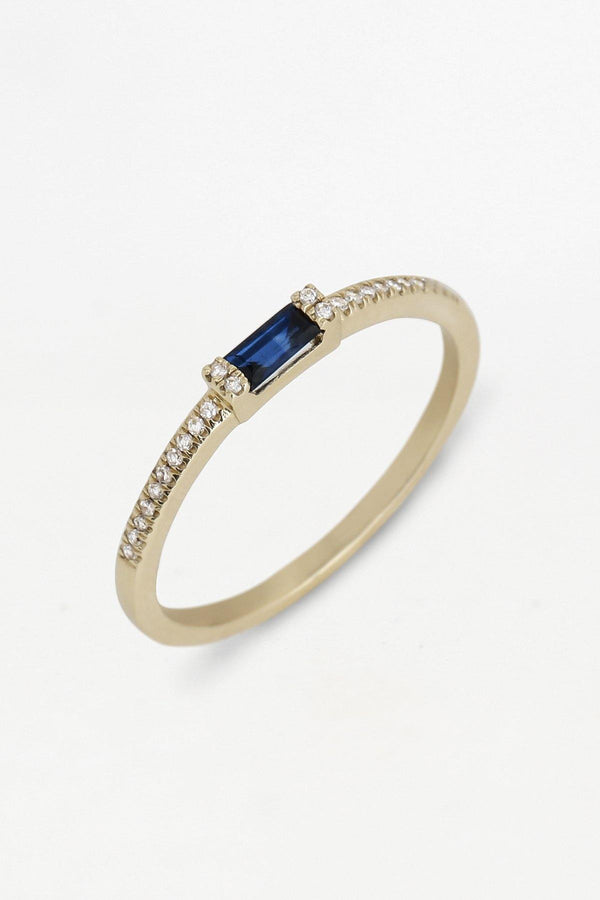 Aiden 14K solid gold pave diamond band