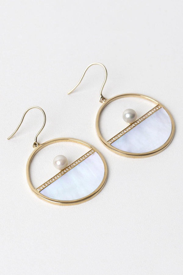 Bella 14K solid gold hoops