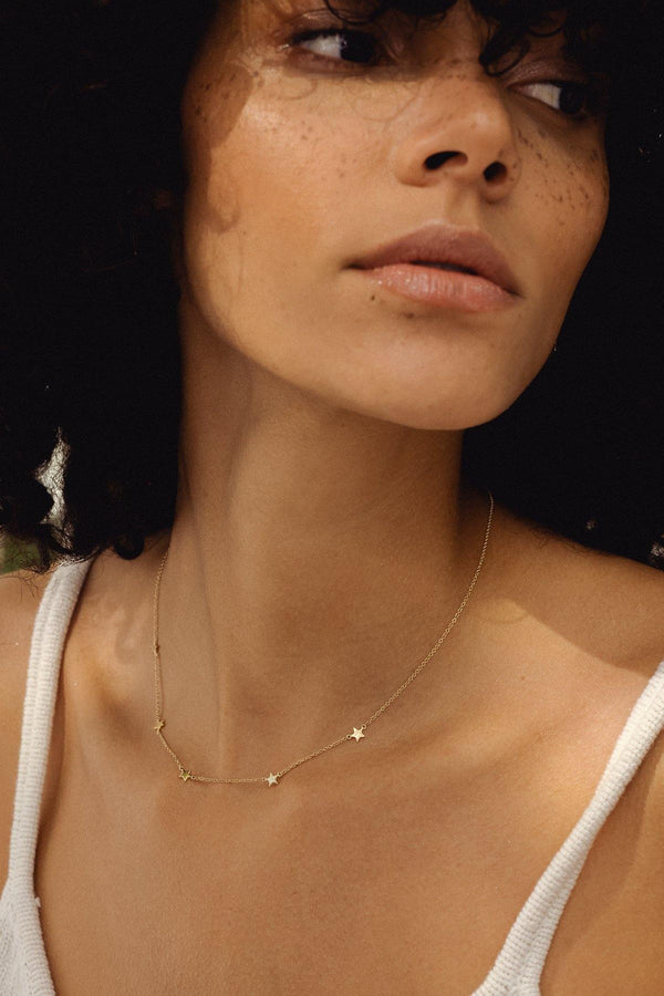 Walker - NAiiA - 14K solid gold chain necklace on gold chain