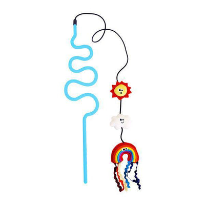 Rainbow Chaser Wand Cat Toy with Catnip & Silvervine - Pets 5th Avenue