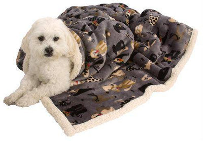 My Blankie® Likkers Pet Blanket - Gray and Cream - Pets 5th Avenue