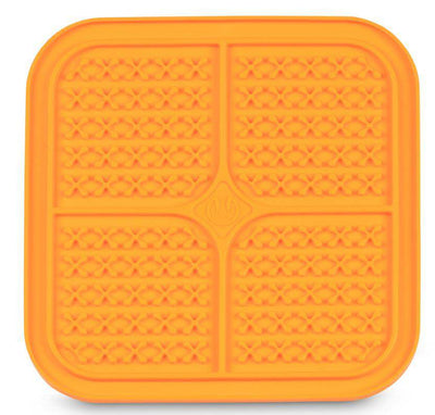 LickiMat Boredem Buster Slow Feeder Dog & Cat Mat Feeder in Orange - Pets 5th Avenue