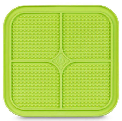 LickiMat Boredem Buster Slow Feeder Dog & Cat Mat Feeder in Green - Pets 5th Avenue