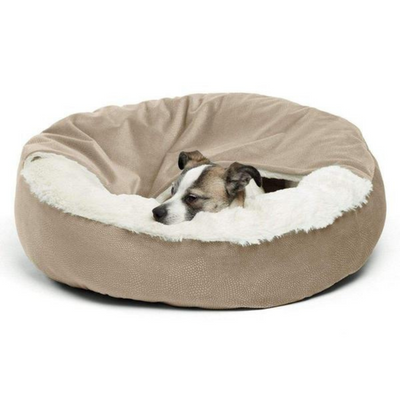 Ilan Cozy Cuddler Covered Cat & Dog Bed-Wheat - Pets 5th Avenue