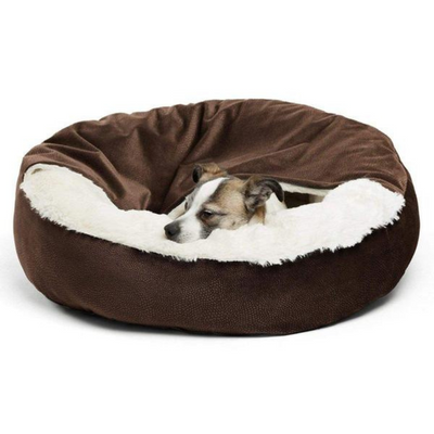 Ilan Cozy Cuddler Covered Cat & Dog Bed-Dark Chocolate - Pets 5th Avenue