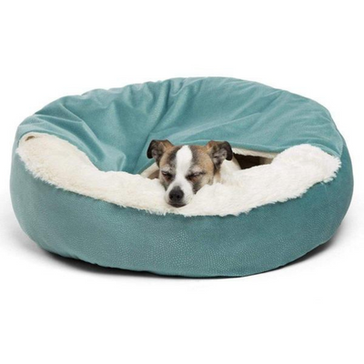 Ilan Cozy Cuddler Covered Cat & Dog Bed-Tide Pool - Pets 5th Avenue