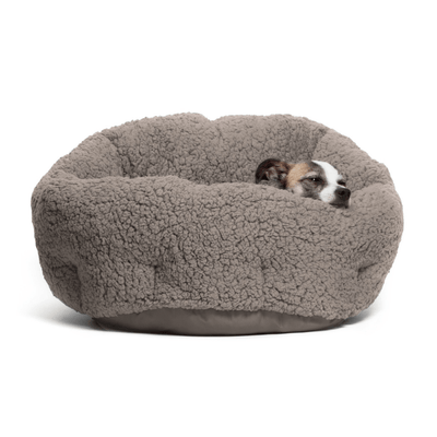 Sherpa OrthoComfort Deep Dish Cuddler Grey - Pets 5th Avenue