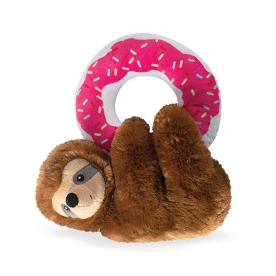 Donut Leave Me Hangin' Sloth Plush Dog Toy - Pets 5th Avenue