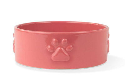 Paw Sculpt Coral Pet Bowl - Pets 5th Avenue