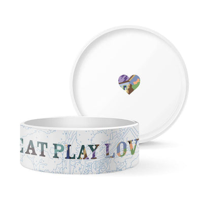 EAT PLAY LOVE Pet Bowl - Pets 5th Avenue