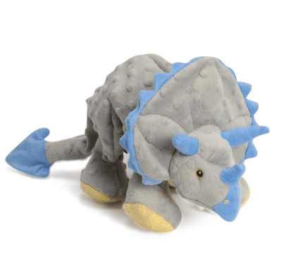 Grey Triceratops Chew Guard Squeaky Plush Dog Toy - Pets 5th Avenue