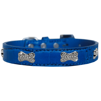 Croc Crystal Bone Dog Collar - Pets 5th Avenue