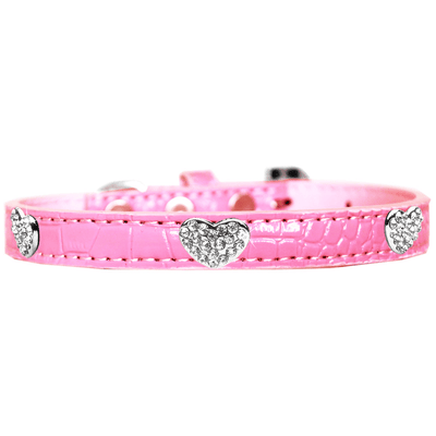 Croc Crystal Heart Dog Collar - Pets 5th Avenue