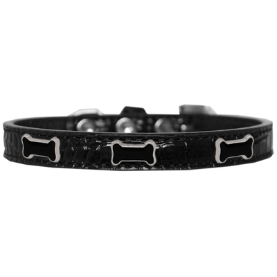 Black Bone Croc Dog Collar - Pets 5th Avenue