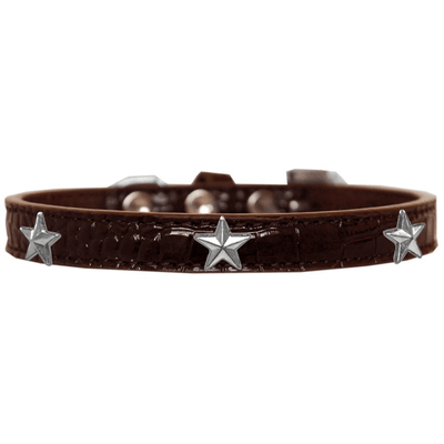 Silver Star Widget Croc Dog Collar - Pets 5th Avenue