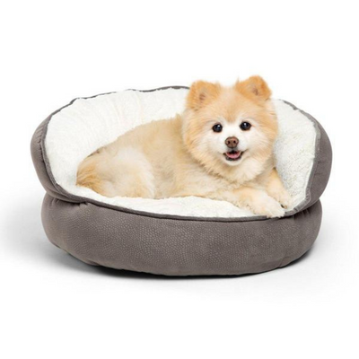 Ilan Cuddler Bolster Cat & Dog Bed - Grey - Pets 5th Avenue