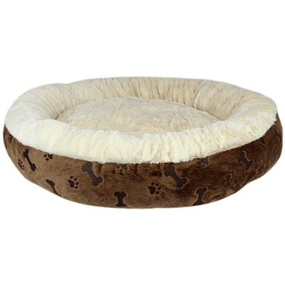 Paw Prints Bed - Brown - Pets 5th Avenue