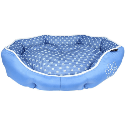 Polka Dot Bed - Blue - Pets 5th Avenue