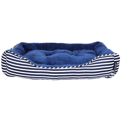 Ahoy Striped Pet Bed - Blue - Pets 5th Avenue
