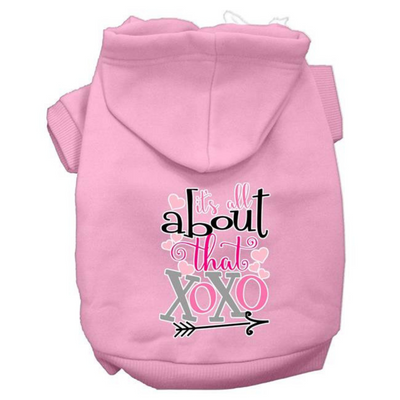 All About That XOXO Dog Hoodie- Light Pink - Pets 5th Avenue