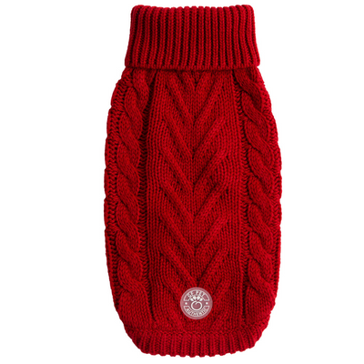 Chalet Dog Sweater- Red - Pets 5th Avenue