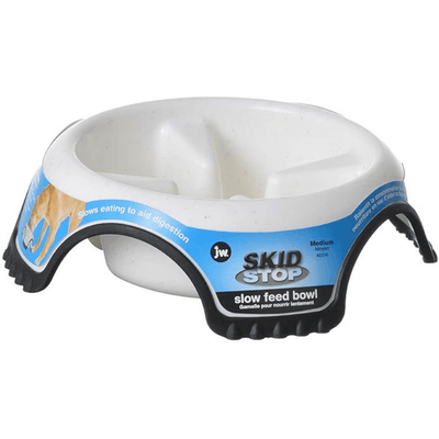 Skid Stop Slow Feeder Bowl, Assorted Colors - Pets 5th Avenue
