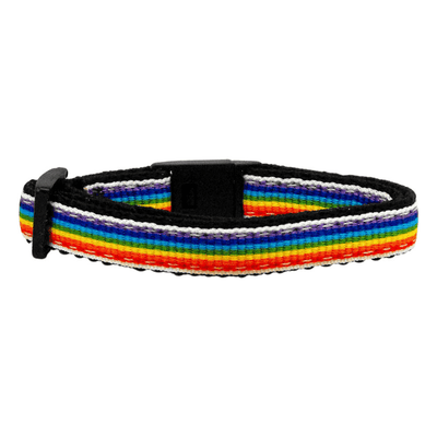 Rainbow Striped 3/8in. Cat Safety Collar - Pets 5th Avenue