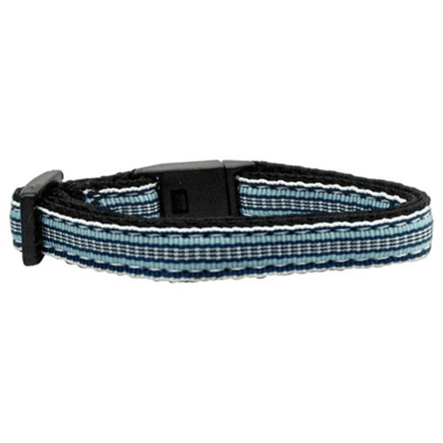 Preppy Stripes 3/8in. Ribbon Cat Safety Collar - Pets 5th Avenue